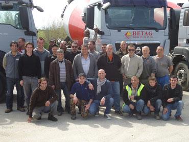 l'équipe de BETAG : Béton et Agrégat en Corse