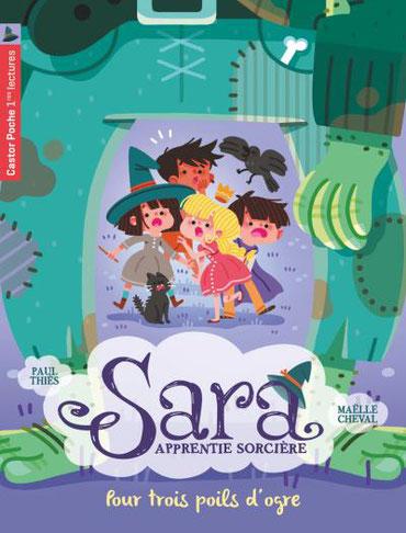"""""""Sara apprentie sorcière"""" illustré par Maëlle Cheval"""