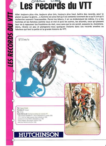 Les records du VTT sur O2biker