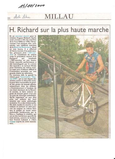 Mont Martre (Paris), record de l'heure battu!