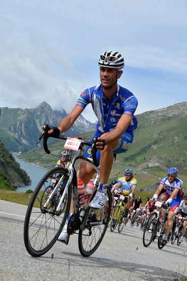 Gianfranco Garozzo in azione sul Glandon