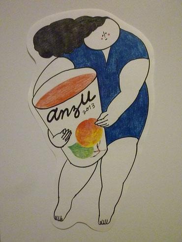 joiaさんの杏ジュースのためのキャラクター(Anzuちゃん)