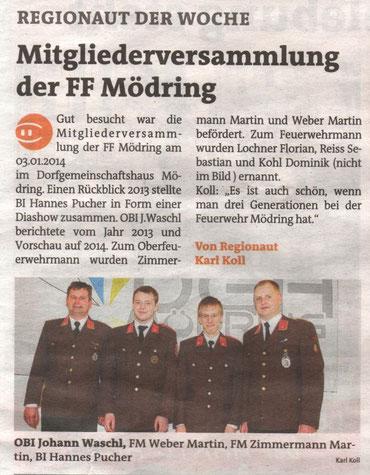 Bezirksblätter 2/3 Jänner 2014
