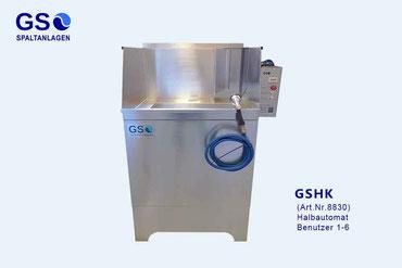 Waschplatz, Spaltanlage GS-CTop halbautomatisch