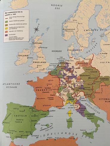 Habsburgserijk in Europa ca. 1600