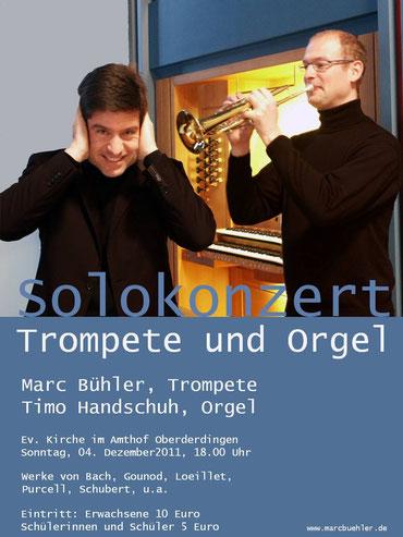 Konzertplakat Marc Bühler und Timo Handschuh