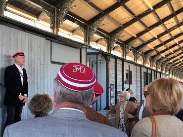 Fronleichnamsfahrt der Männerhelvetia Solothurn 2016 in der historischen Bahnhofshalle in Bauma