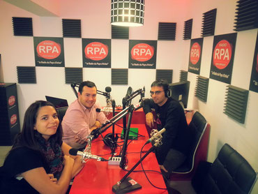 """Aude et Gregory de l'association  """"Jeunesse Taurine du Pays d'Arles"""" sur Radio RPA"""