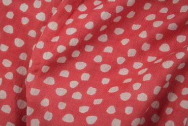 Roter Baumwollschal mit Punkten