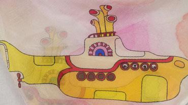 The Beatles Seidentuch Yellow Submarine