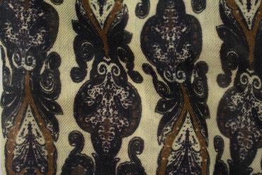Herrenschal schwarzes Muster