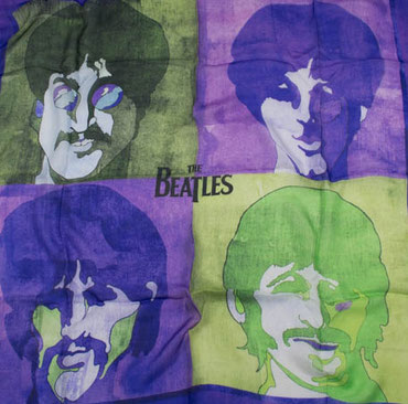 The Beatles Seidentuch lila
