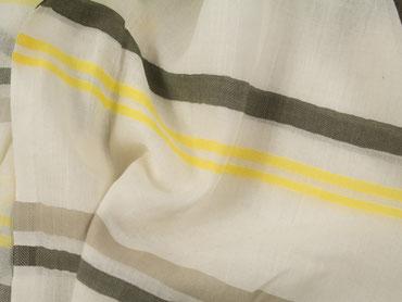 Webschal gelb-grüne Streifen