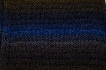 Strick Loop braun/blau nah