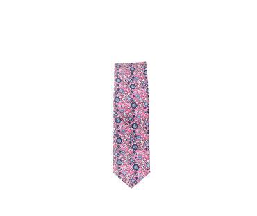 Krawatte rosa mit Blumenmuster