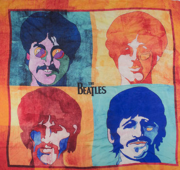 The Beatles Seidentuch orange