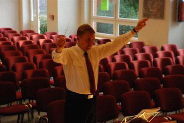 Uwe Depke 2008 - Vorprobe Jubiläumskonzert