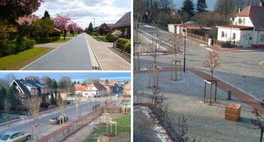 Städtische Sanierungsgebiete und Stadtstraßen