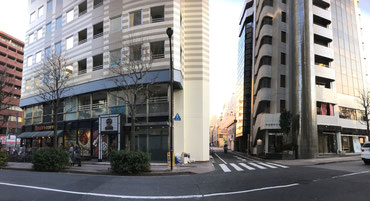 丸の内線「新宿御苑駅」A1出口からみた風景