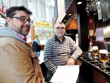 Bati Bordes y Manolo Gregorio en el Central Bar de Ricard Camarena