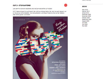 Screenshot: www.cut-magazine.com