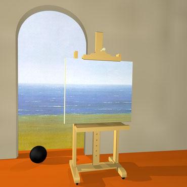 "René Magritte, ""La condizione umana"" (1935)"