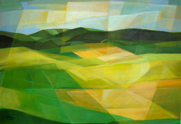 Heimat, Acryl auf Leinwand, 70 x 100 cm, 2015