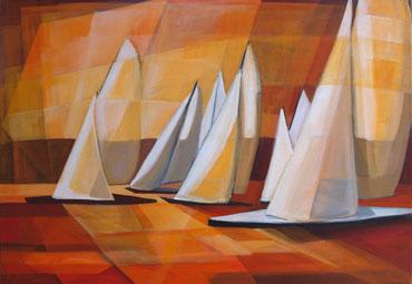 Sailing, Acryl auf Leinwand, 70 x 100 cm, 2015