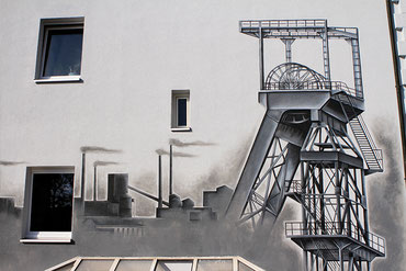 Beispielfoto für künstlerische Wand und Raumgestaltung