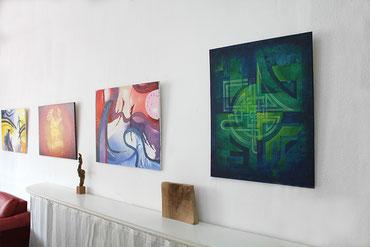 Beispielfoto für das Ausstatten von Räumlichkeiten mit moderner Kunst