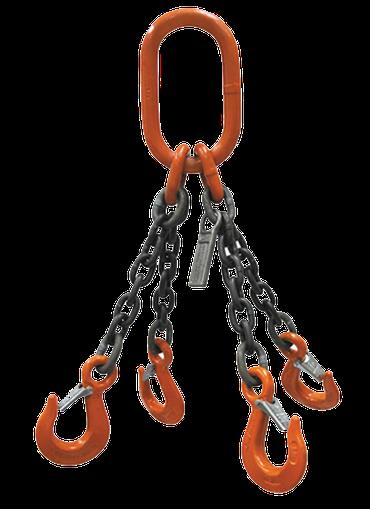 Eslingas de cadena y pulpos de ramales