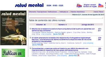 Revista Salud Mental