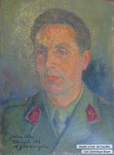 Portrait peint par un prisonnier au Stalag 383 (1943)