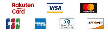 各種クレジットカードに対応しています
