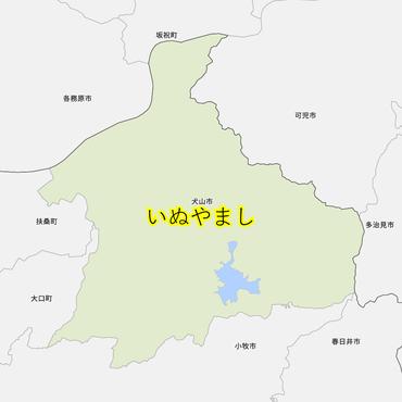 犬山市と近辺の市の地図