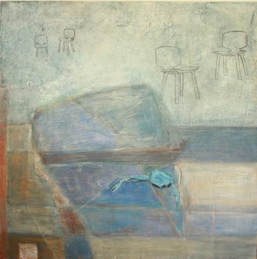 Elsa Hagelskamp, Let's Talk! Acryl auf Leinwand, 100 x 100 cm, 2019