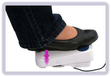 Fußpedalfunktionen