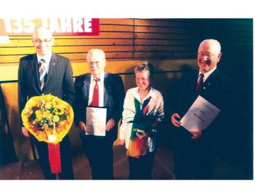 Ehrung von verdienten Mitgliedern des Wernborner Gesangvereins 2008