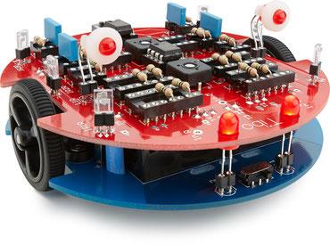 Der Roboterbausatz tibo mit elektronischer Experimentierplattform