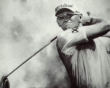 """""""golf heroe"""", 2016, acrylic on canvas, 80x100"""