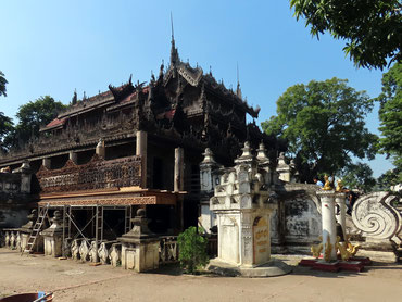 Goldene Palastkloster in Mandalay