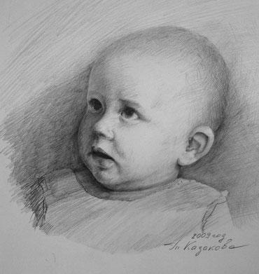 Мой внук Илья, карандаш