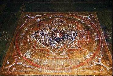 Boden-Mandala im Meenakshi Tempel in Madurei