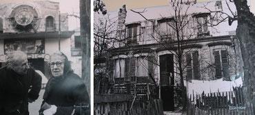 """1968 Les grands-mères à Belleville. Au second plan, l'ex-cinéma """"Cocorico"""" //Pavillon du XIXe siècle rue Pixéricourt"""