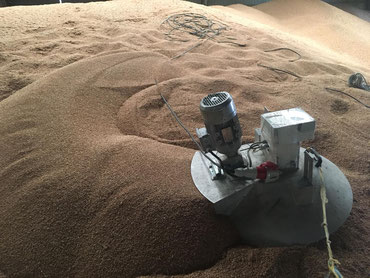 removido de grano, para evitar plagas