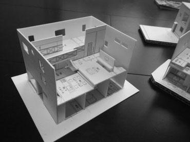 お客様が作った住宅模型の画像
