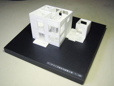 一番最初に作った1/100簡易分解型の住宅模型の画像