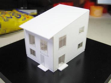 1/100の住宅模型の画像