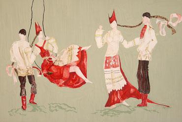 композиция костюма выполнена  Ефимовой Юлией  14 лет преподаватель Бодряшкина Е.Н.