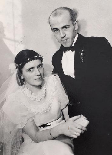 C.W. und Anne Marie als Brautpaar 1932